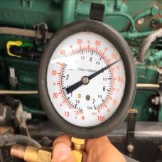 Тест давления масла механическим путем, кабина поднята