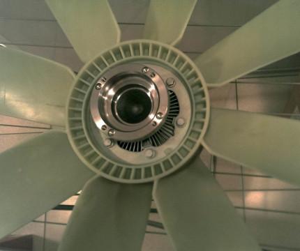 Вентилятор и диффузор с/у D12 A,C,D кабина поднята
