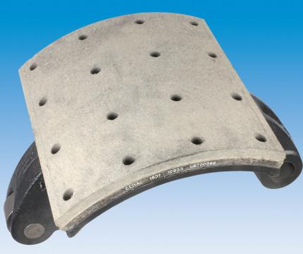 Колодка тормозная замена накладок прицеп, SC (колодка снята)